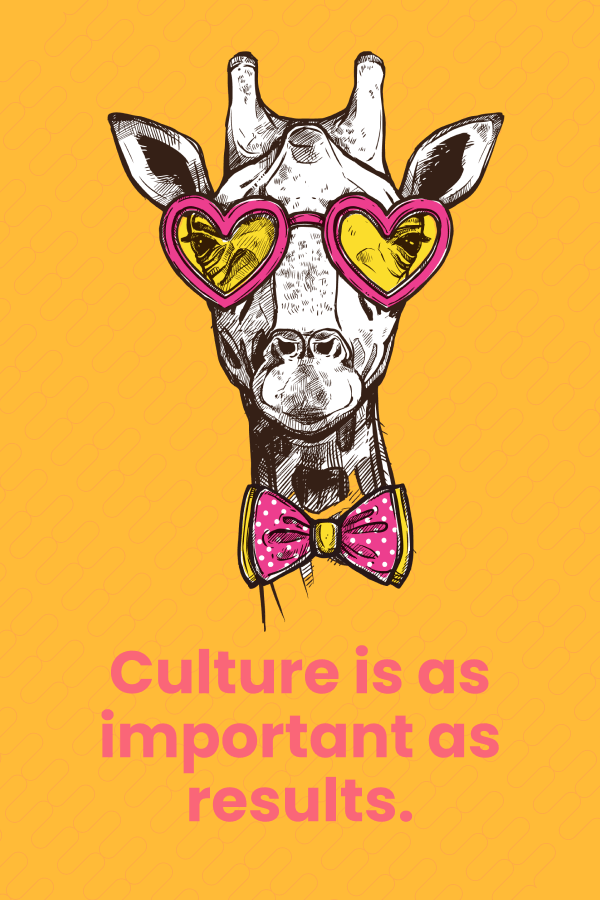 culture is as important as results