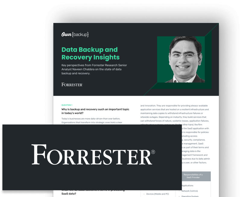 forrester backup and recovery