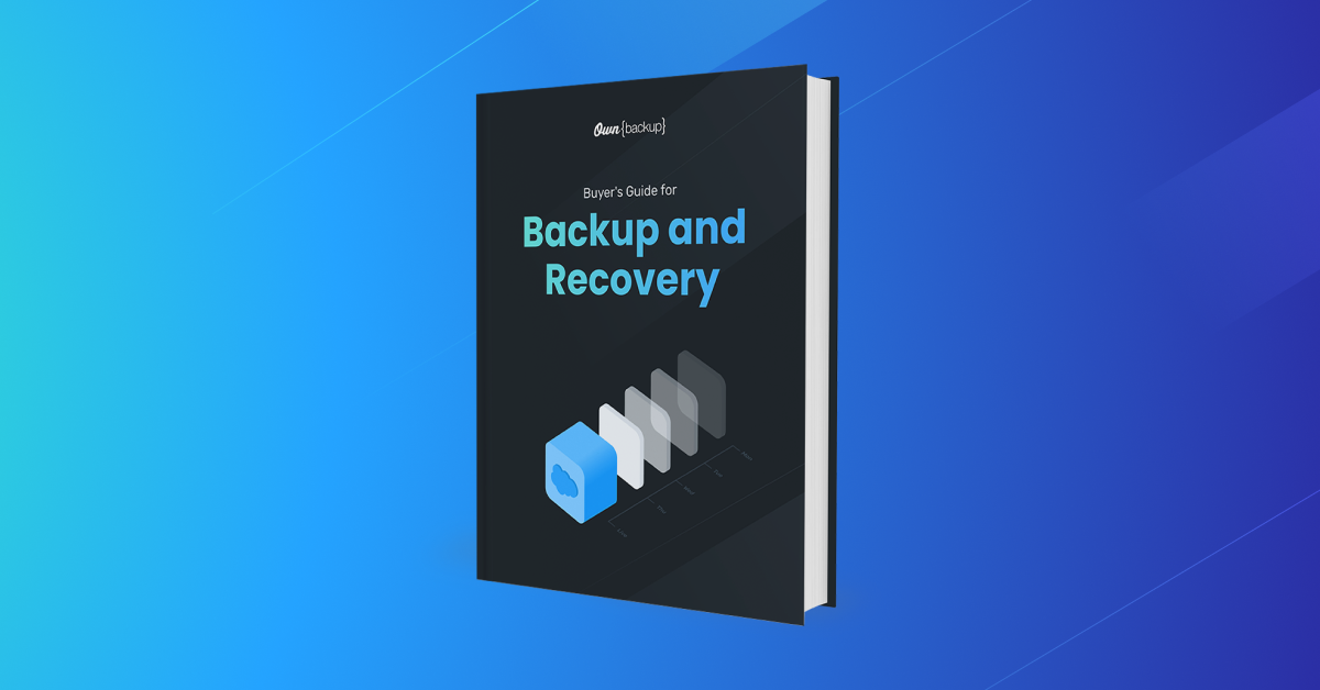 Buyer's Guide To Backup and Recovery
